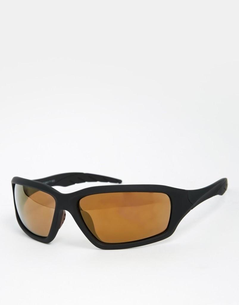 ASOS Wrap Around Sunglasses in Black