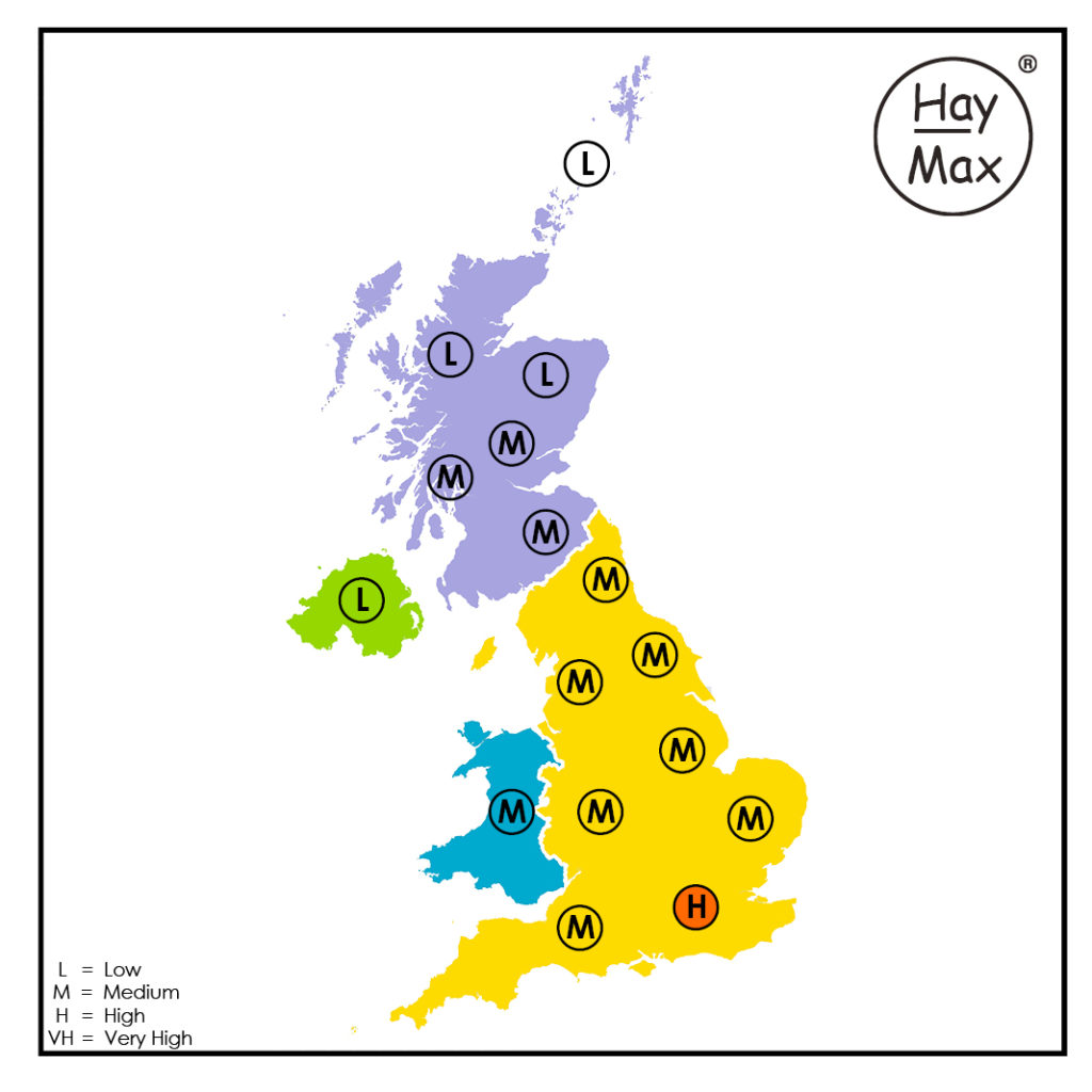HayMax Pollen Map 7th July 2020